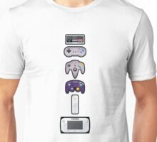 Evolution of Nintendo controllers Unisex T-Shirt