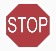 STOP, Sign, Old American, Americana, USA, America, Road Sign, Red on BLACK One Piece - Short Sleeve