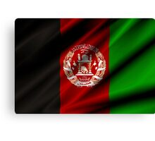 flag of afghanistan Canvas Print