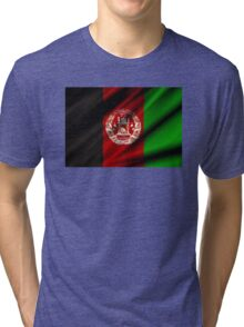 flag of afghanistan Tri-blend T-Shirt