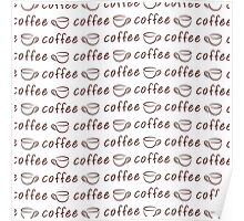 Coffee seamless pattern Poster