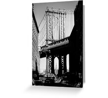 Empire State Building through Manhattan Bridge Greeting Card