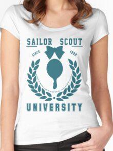 Sailor Scout University: Sailor Neptune Women's Fitted Scoop T-Shirt