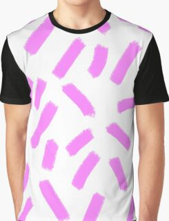 Purple Strokes - Brightly Spring Graphic T-Shirt