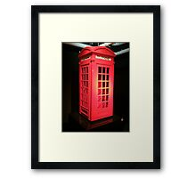 Lego telephone box  Framed Print