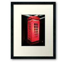 Lego telephone box  Framed Print