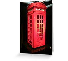 Lego telephone box  Greeting Card