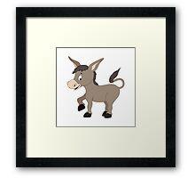 Cartoon Donkey Framed Print