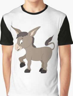 Cartoon Donkey Graphic T-Shirt