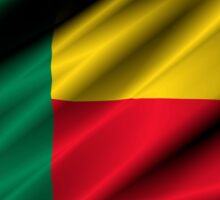 flag of benin Sticker
