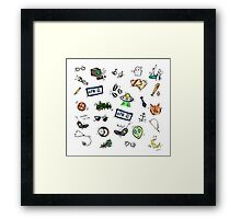 X Files Doodles Framed Print