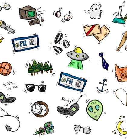 X Files Doodles Sticker