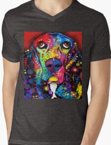 Dog Colors Mens V-Neck T-Shirt