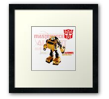 Transformers G1 Bumblebee Framed Print