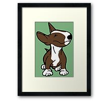 English Bull Terrier Pup Brown  Framed Print