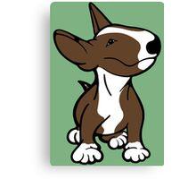 English Bull Terrier Pup Brown  Canvas Print