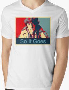 So It Goes:  Kurt Vonnegut Mens V-Neck T-Shirt