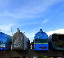 Coastal Mailboxes by Charmiene Maxwell-Batten