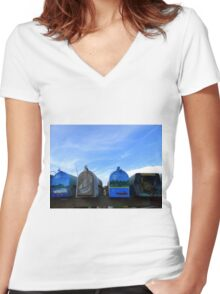Coastal Mailboxes Women's Fitted V-Neck T-Shirt