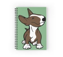 English Bull Terrier Pup Brown  Spiral Notebook