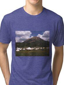 Crested Butte, Colorado  Mountain Man Rendezvous Tri-blend T-Shirt