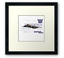 Transformers G1 Skywarp Framed Print