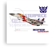Transformers G1 Starscream Jet Canvas Print