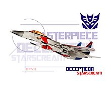 Transformers G1 Starscream Jet Photographic Print