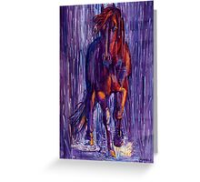 Rough God Comes Riding Greeting Card