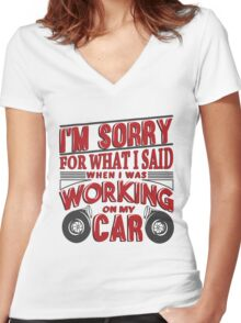 Wrenching anger 2 Women's Fitted V-Neck T-Shirt