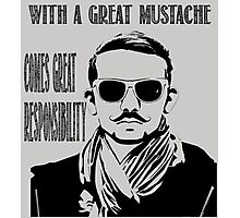 With a Great Mustache Photographic Print