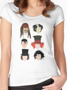 Johnny Depp - Famous Characters Women's Fitted Scoop T-Shirt