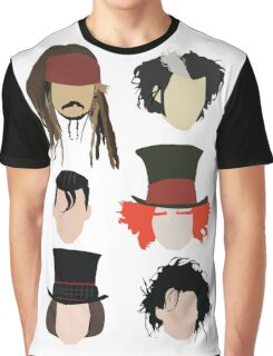 Johnny Depp - Famous Characters Graphic T-Shirt