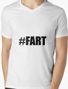 Hashtag Fart Mens V-Neck T-Shirt