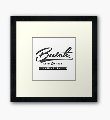 Lesbian Pride - Butch Chivalry Framed Print