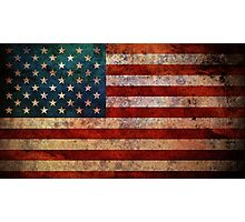 STARS AND STRIPES-ABSTRACT Photographic Print