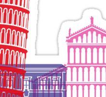 Pisa skyline pop Sticker