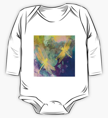 Yellow Dragonflies One Piece - Long Sleeve