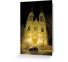 MINI Moments: St. Helena's Cathedral, Helena, Montana Greeting Card