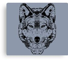 Wolf Black 2 Canvas Print