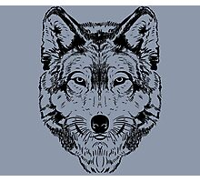 Wolf Black 2 Photographic Print