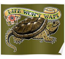 Life Won't Wait Snapping Turtle Poster