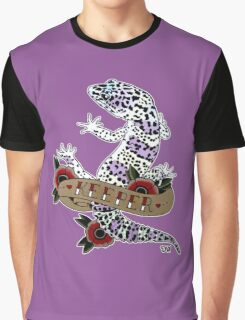 """Keeper Leopard Gecko"" Graphic T-Shirt"