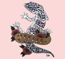 """Keeper Leopard Gecko"" One Piece - Short Sleeve"