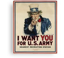 Join the USA army Canvas Print