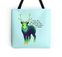 """The Part Where You're a Badass"" Galaxy Caribou Tote Bag"