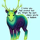 """The Part Where You're a Badass"" Galaxy Caribou by thelatestkate"