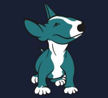English Bull Terrier Pup Teal/ Aqua One Piece - Short Sleeve
