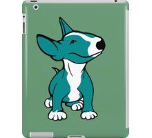 English Bull Terrier Pup Teal/ Aqua iPad Case/Skin