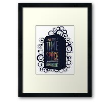 Doctor Who - Space and Time Framed Print